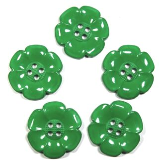 Green Large Flower Buttons