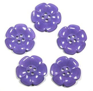 Lavender Large Flower Buttons