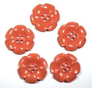 Orange Large Flower Buttons