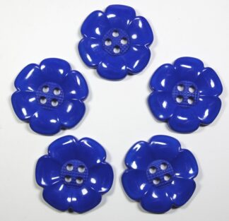 Royal Blue Large Flower Buttons