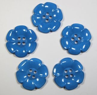 Teal Blue Large Flower Buttons