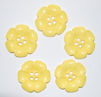 Yellow Large Flower Buttons