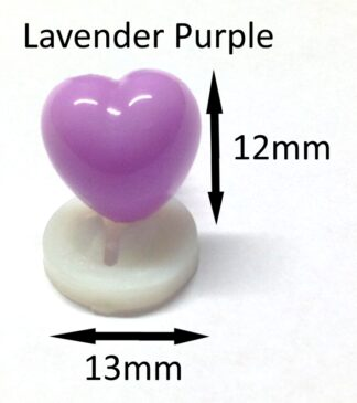 Lavender 13 x 12mm Heart Noses