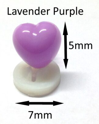 Lavender 7 X 5mm Heart Noses