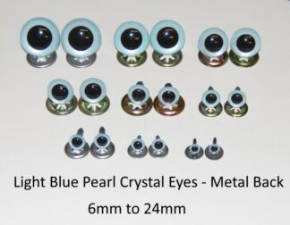 Light Blue Pearl Metal Eyes