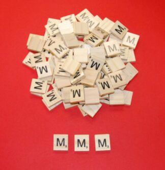 Letter 'M' Scrabble Wooden Tiles
