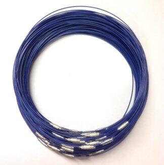 MedBlue RidgedClasp WireNecklace