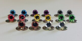 6mm Eyes with Metal Back