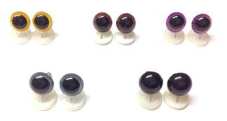 Mix 4 Plastic Back Eyes