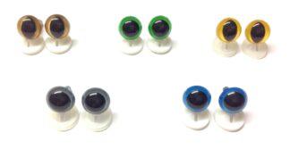 Mix 6 Plastic Back Eyes