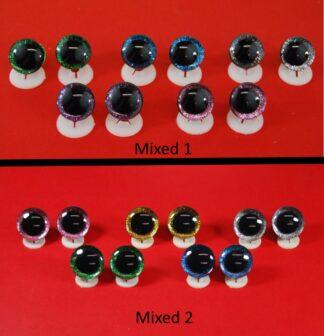 3D Mixed Colour Giltter Eyes