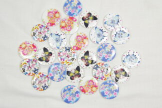 30mm Wooden Printed Buttons