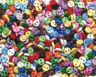 Mini Buttons 4mm Circles Mixed