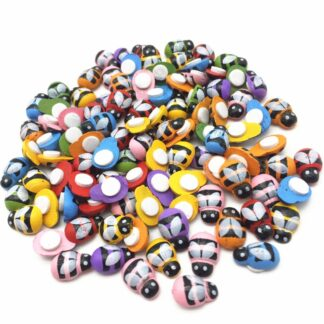 9x13mm Mixed Colour Bees