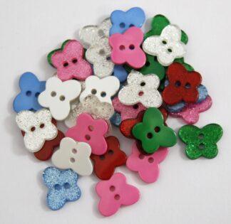 Glitter Butterfly Buttons