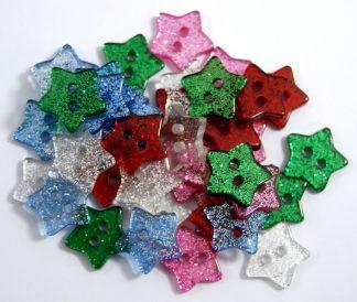 Glitter Star Buttons