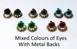 Mixed Eyes with Metal Backs