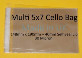 Multi 5x7 Cello Bags