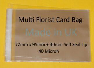 Multi Florist Cards Cello Bags