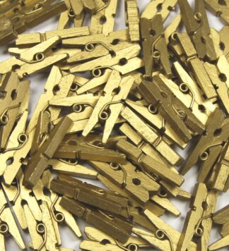 25mm Gold Mini Wooden Pegs