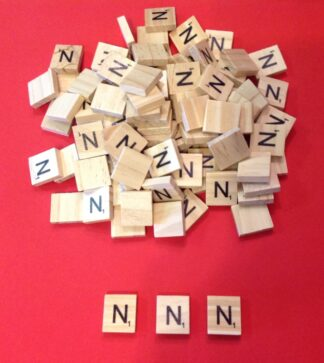 Letter 'N' Scrabble Wooden Tiles