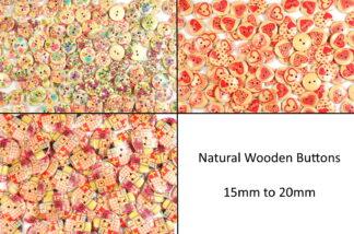 Natural Wooden Buttons