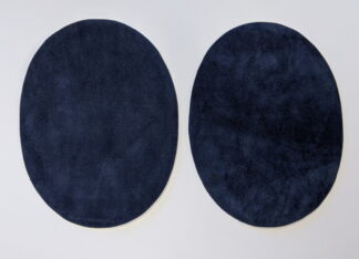 Navy Blue Elbow Patches