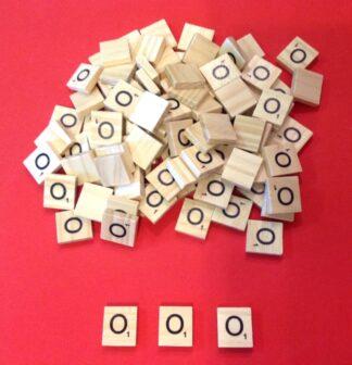 Letter 'O' Scrabble Wooden Tiles