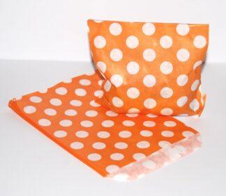 "5"" x 7""-Orange Paper Sweet Bags"