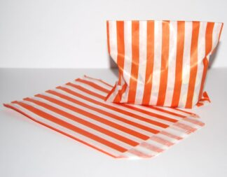 """7"""" x 9"""" - Orange Paper Sweet Bag"""