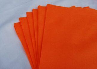"9"" SuperBright Orange Felt Squre"
