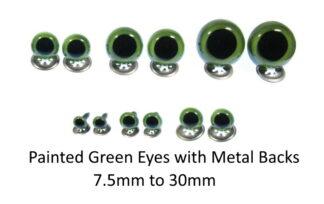 Painted Green Crystal Eyes