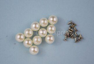 10mm Pearl Rivet Studs