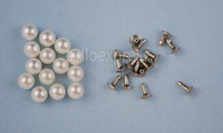 6mm Pearl Rivet Studs