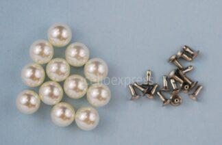 8mm Pearl Rivet Studs