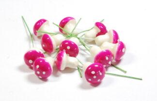 Pink Mini Mushrooms