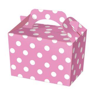 Pink Polka Dot Party Food Boxes