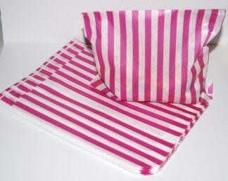 "10"" x 14"" Pink Paper Sweet Bag"