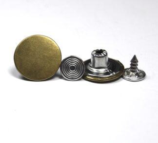 17mm Plain Gold Jean Studs