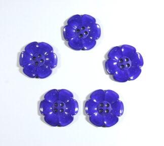 Purple Large Flower Buttons