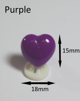 Purple 18 X 15mm Heart Noses