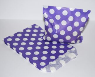 "7"" x 9""- Purple Paper Sweet Bags"
