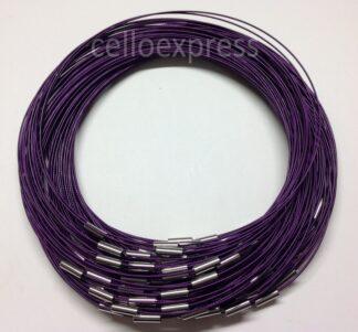 Purple Plain Clasp Wire Necklace