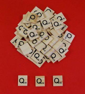 Letter 'Q' Scrabble Wooden Tiles