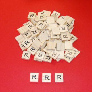 Letter 'R' Scrabble Wooden Tiles