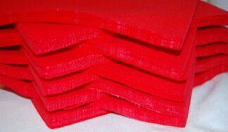 "6"" Red Felt Squares"