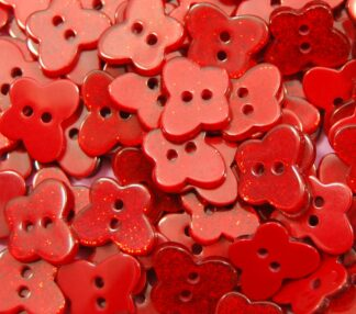 Red Glitter Butterfly Buttons