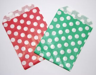 """7"""" x 9"""" - Red & Green Sweet Bags"""