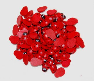 8x11mm Red Ladybirds