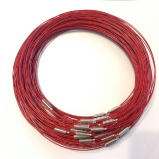 Red Plain Clasp Wire Necklaces